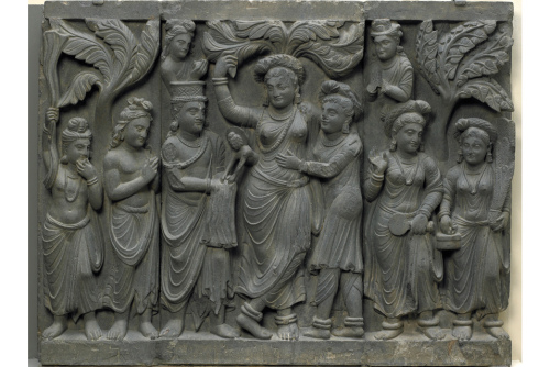 Four Scenes from the Life of the Buddha, Pakistan-Afghanistan, ancient Gandhara. Courtesy of Freer Gallery,